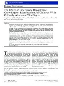 The Effect of Emergency Department Crowding ... - Wiley Online Library