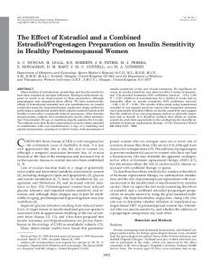 The Effect of Estradiol and a Combined Estradiol/Progestagen ...