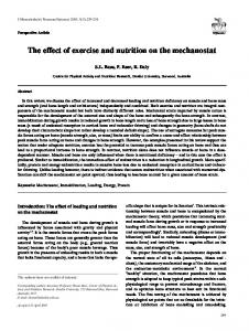 The effect of exercise and nutrition on the ... - Semantic Scholar