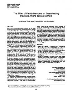 The Effect of Family Members on Breastfeeding Practices Among ...