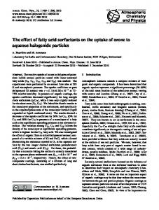 The effect of fatty acid surfactants on the uptake ... - Atmos. Chem. Phys