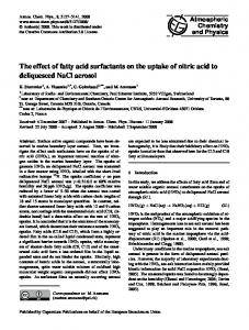 The effect of fatty acid surfactants on the uptake of nitric acid to ... - Core