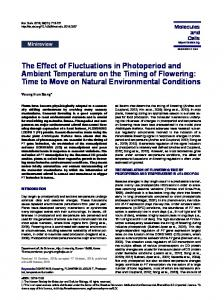 The Effect of Fluctuations in Photoperiod and Ambient Temperature on ...
