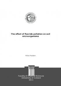 The effect of fluoride pollution on soil microorganisms - Skemman