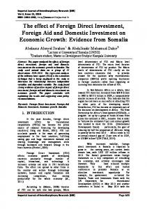 The effect of Foreign Direct Investment, Foreign Aid and ... - IJIR