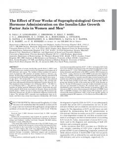 The Effect of Four Weeks of Supraphysiological Growth Hormone ...