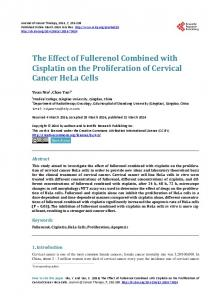 The Effect of Fullerenol Combined with Cisplatin on the Proliferation of ...