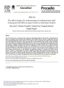The Effect of Game for Understanding on ... - ScienceDirect.com