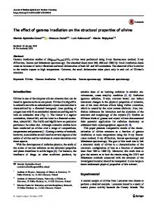 The effect of gamma irradiation on the structural ... - Springer Link