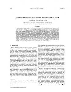 The Effect of Greenhouse SSTs on ENSO Simulations ... - AMS Journals