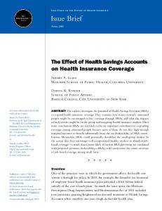 The Effect of Health Savings Accounts on Health Insurance Coverage