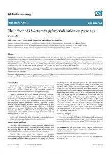 The effect of Helicobacter pylori eradication on