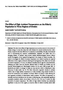 The Effect of High Ambient Temperature on the ... - Semantic Scholar