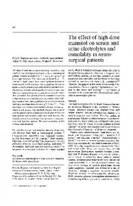 The effect of high-dose mannitol on serum and urine ... - Springer Link