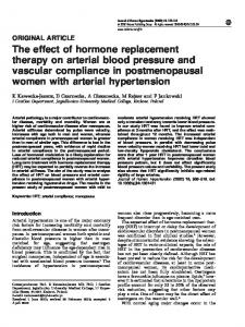 The effect of hormone replacement therapy on arterial blood ... - Nature