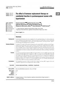 The effect of hormone replacement therapy on endothelial function in ...