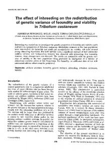 The effect of inbreeding on the redistribution of genetic ... - Nature