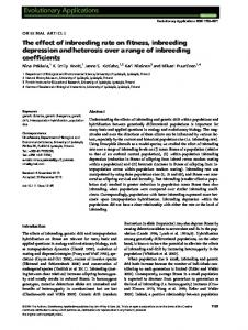 The effect of inbreeding rate on fitness, inbreeding depression and ...