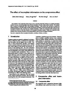 The effect of incomplete information on the compromise effect