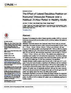 The Effect of Lateral Decubitus Position on