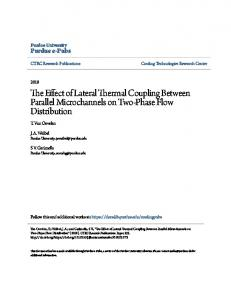 The Effect of Lateral Thermal Coupling Between ... - Purdue e-Pubs
