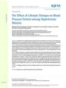 The Effect of Lifestyle Changes on Blood Pressure ... - Semantic Scholar