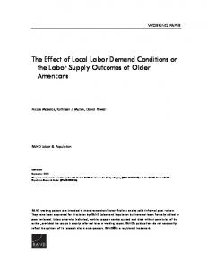 The Effect of Local Labor Demand Conditions on the Labor Supply ...