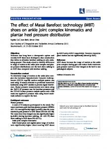 The effect of Masai Barefoot technology (MBT) shoes ... - Springer Link