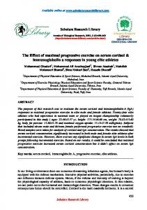 The Effect of maximal progressive exercise on