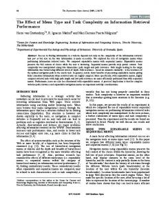 The Effect of Menu Type and Task Complexity on ... - Semantic Scholar