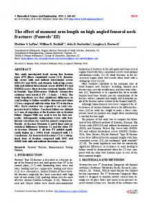 The effect of moment arm length on high angled