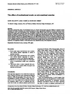The effect of motivational music on sub-maximal exercise