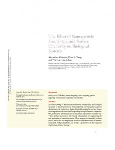 The Effect of Nanoparticle Size, Shape, and Surface Chemistry on ...