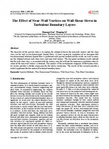 The Effect of Near-Wall Vortices on Wall Shear Stress in Turbulent ...