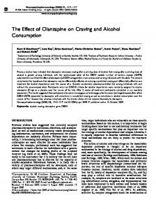 The Effect of Olanzapine on Craving and Alcohol Consumption - Nature
