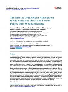 The Effect of Oral Melissa officinalis on Serum ... - Semantic Scholar