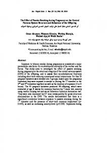 The Effect of Passive Smoking during Pregnancy ... - An-Najah journals