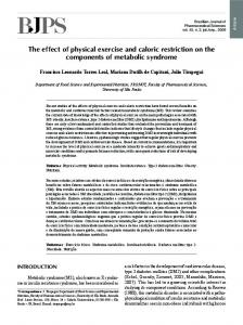 The effect of physical exercise and caloric