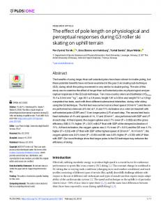 The effect of pole length on physiological and perceptual ... - PLOS