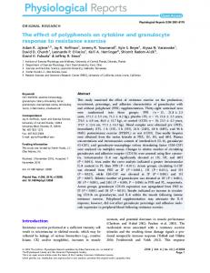 The effect of polyphenols on cytokine and ... - Wiley Online Library