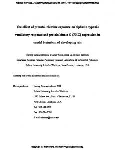 The effect of prenatal nicotine exposure on biphasic hypoxic ...