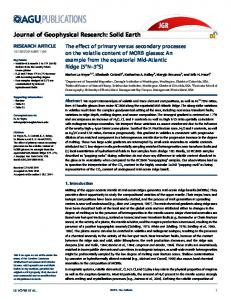 The effect of primary versus secondary processes on the volatile ...