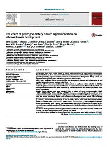 The effect of prolonged dietary nitrate supplementation on ... - Core
