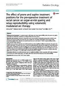 The effect of prone and supine treatment ... - Radiation Oncology