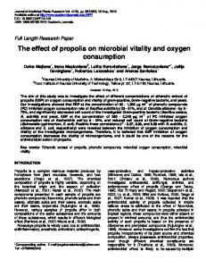 The effect of propolis on microbial vitality and ... - Academic Journals
