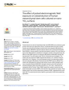 The effect of pulsed electromagnetic field exposure on ... - PLOS