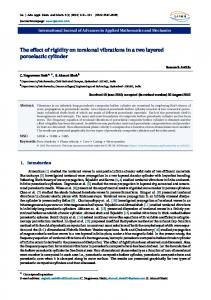 The effect of rigidity on torsional vibrations in a two layered ... - IJAAMM