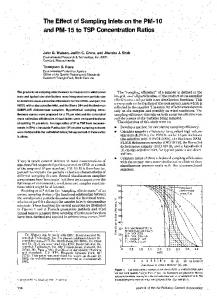 The Effect of Sampling Inlets on the PM-10 and PM-15 to TSP ...