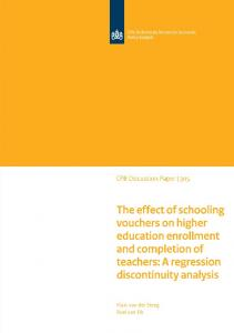 The effect of schooling vouchers on higher education ... - CPB.nl
