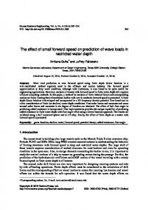 The effect of small forward speed on prediction of ...